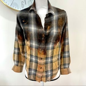 Ralph Lauren Bleach Dye Flannel